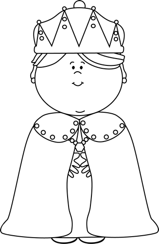 Queen clipart black and white #3
