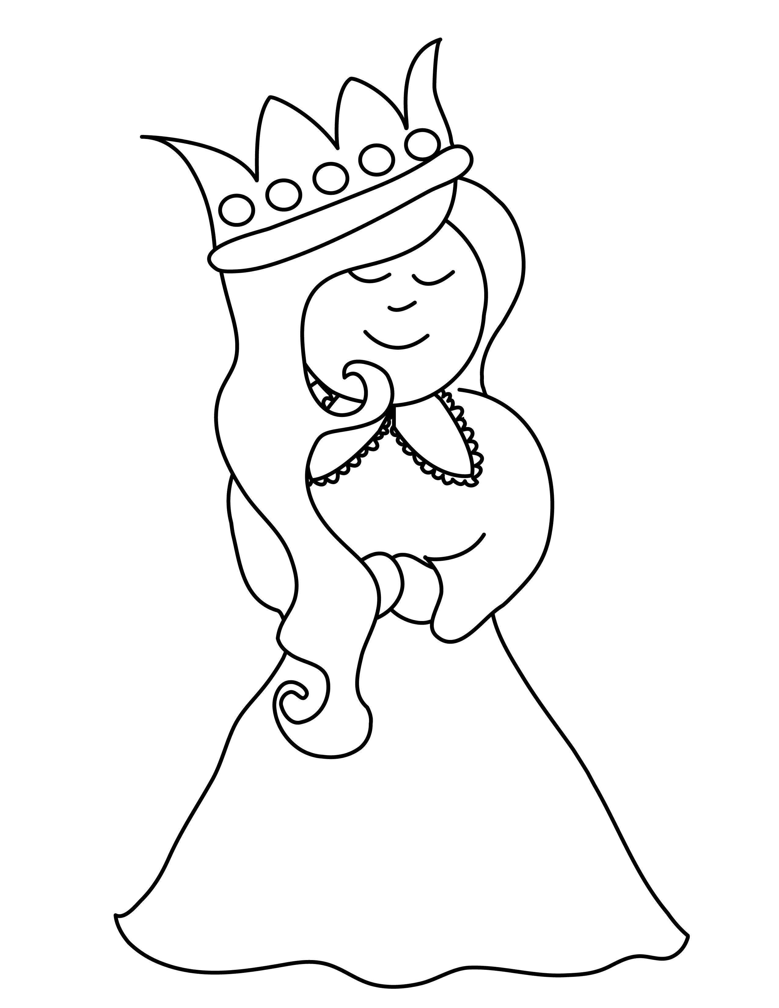 Monochrome clipart queen #7