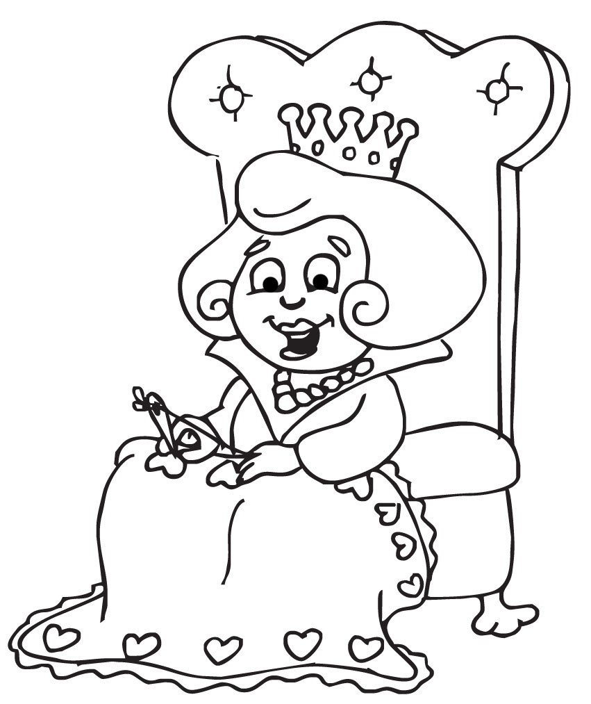 Queen clipart black and white #8
