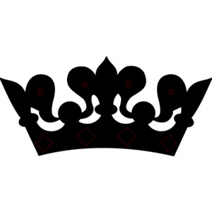 Black clipart tiara Queen art clip crown art