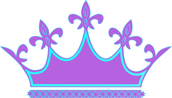 Blur clipart princess crown Clipart Blue Clip tiara Purple