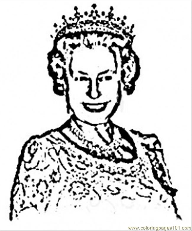Queen clipart colouring page Page Queen  Coloring Britain