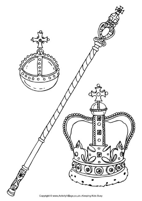 Queen clipart colouring page Queen II this Pinterest ELIZABETH