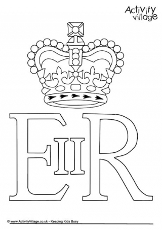 Royal Guards clipart english crown Craft Page II Queen Colouring