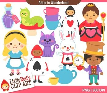 Alice In Wonderland clipart storybook character #2