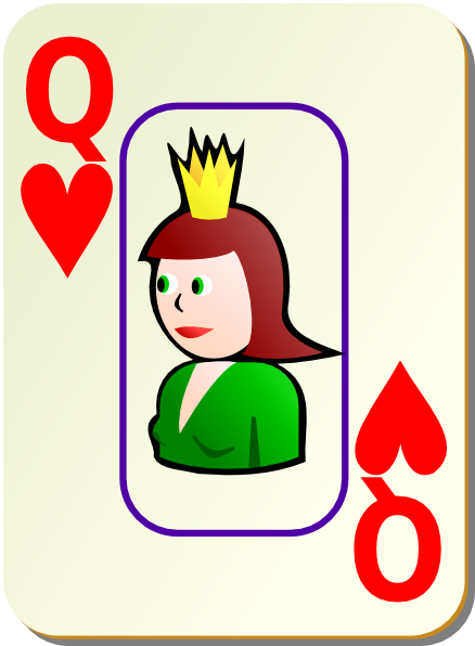 Queen clipart hearts clipart Bordered this at  Queen
