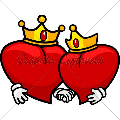 Queen clipart hearts clipart Clip of Crown art Queen