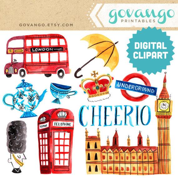 Queen clipart london Govango Tea Queen Digital Cheerio