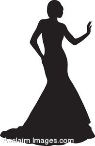Traditional clipart prom Silhouette Dress Clipart Formal Clipart