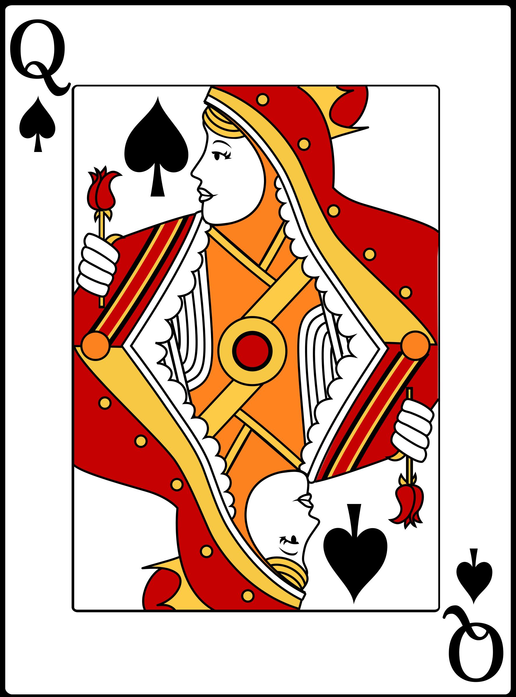 Queen clipart spades #8