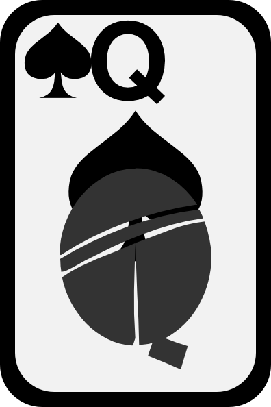 Queen clipart spades #7