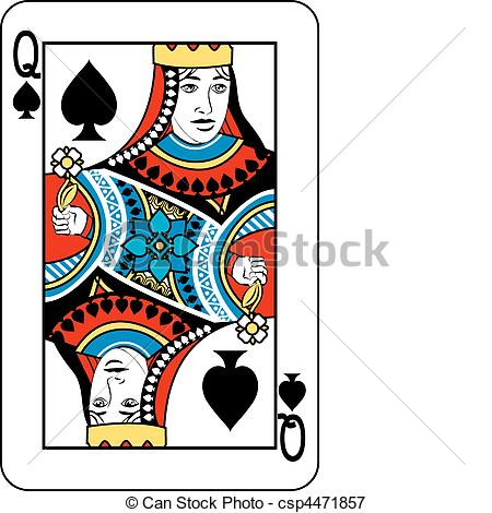 Queen clipart spades Queen  of Stylized of