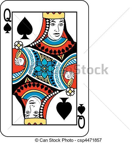 Queen clipart spades #10