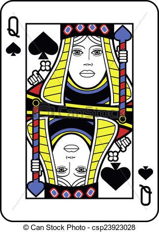 Queen clipart spades #2