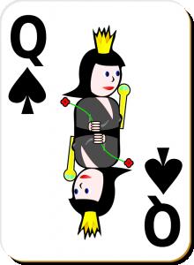 Queen clipart spades #5