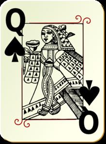 Queen clipart spades #4