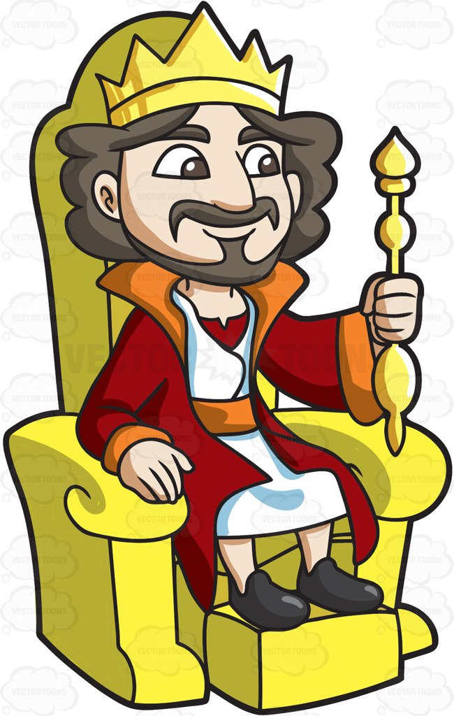 Staff clipart king's A Clipart A King Sitting