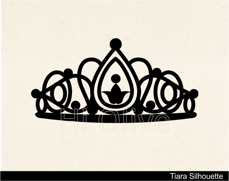 Black clipart tiara Silhouette art silhouette silhouette tiara