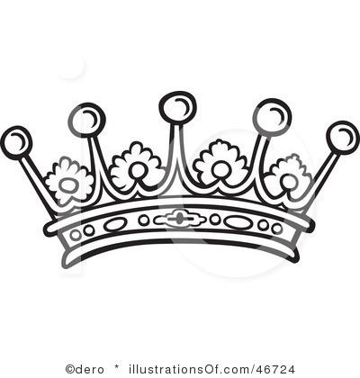 White clipart princess crown Crown Black  Clipart Crown