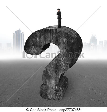 Question Mark clipart huge Of on standing question concrete