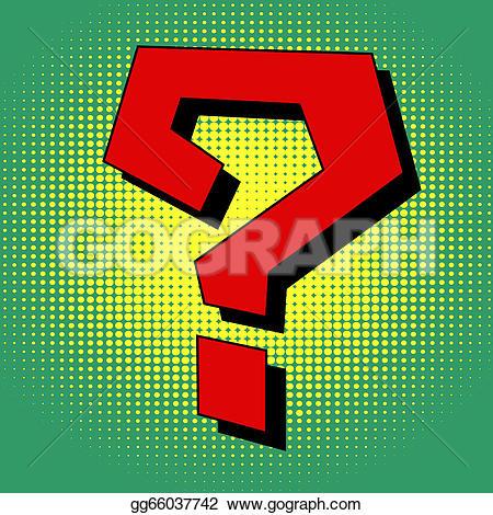 Question Mark clipart pop art EPS pop Question Illustration Clipart