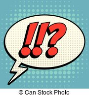 Question Mark clipart pop art Style bubble Male exclamation Vector