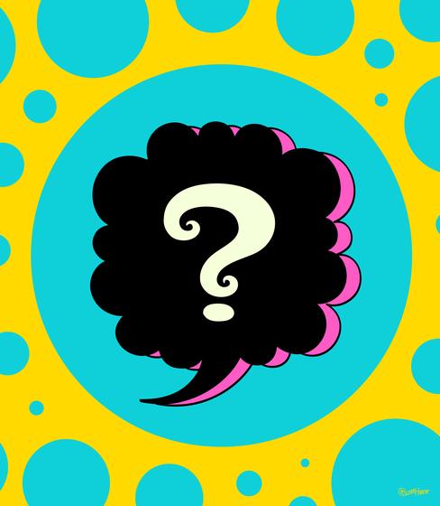 Question Mark clipart pop art COLORS art  art for