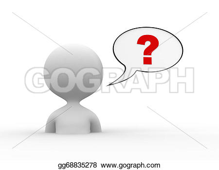Question Mark clipart thought 3d question people Illustration thought