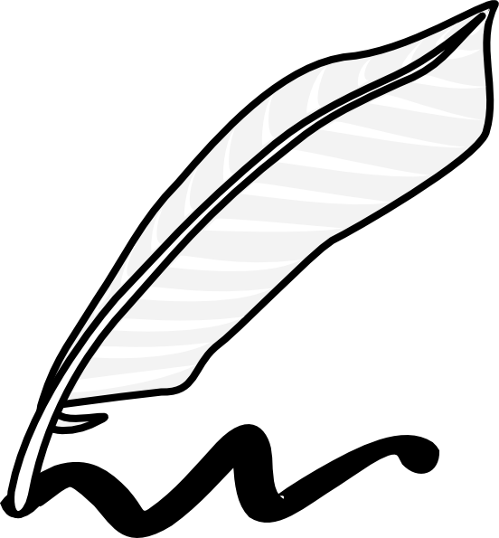 Quill clipart vector As:  Writing this vector