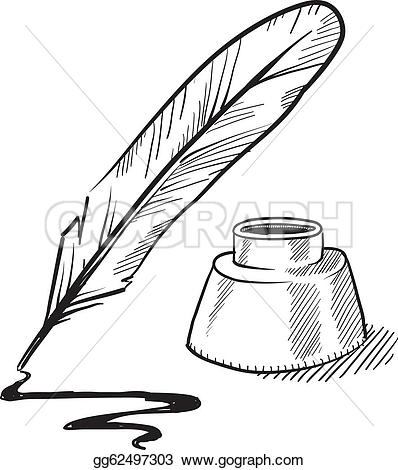 Quill clipart cartoon Quill Art GoGraph and Free