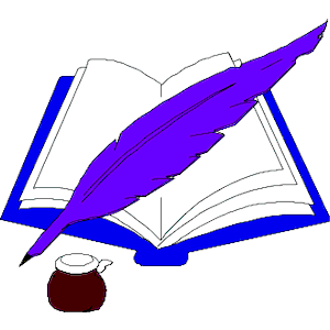 Quill clipart book #1