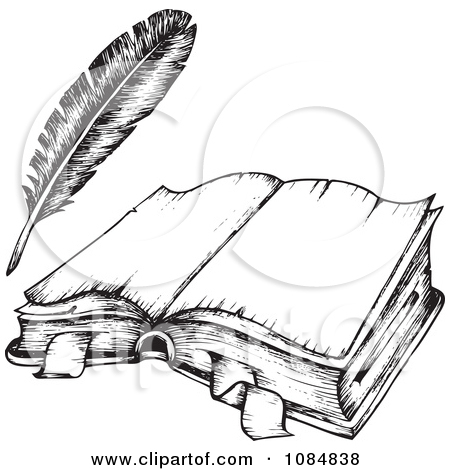 Quill clipart book #7