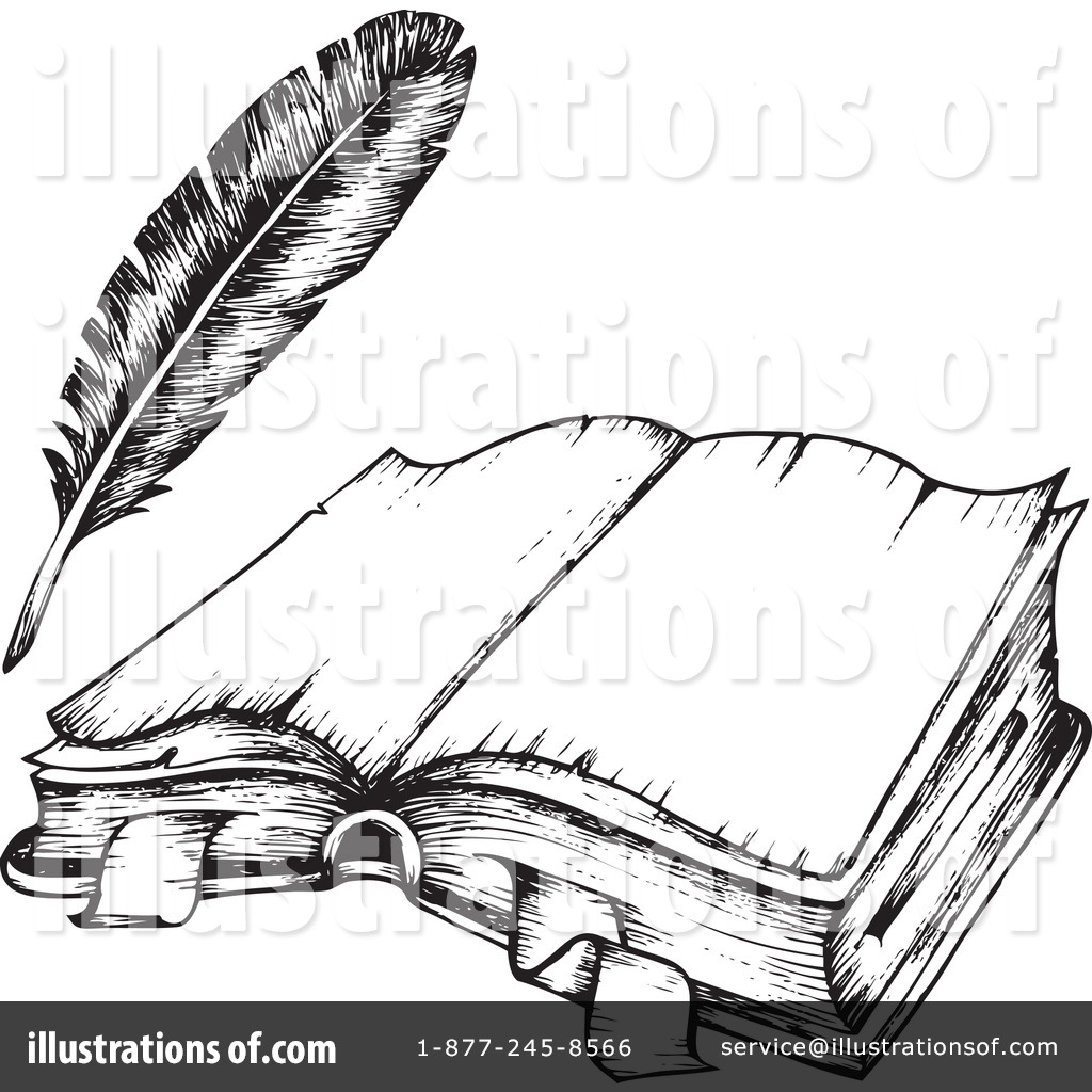 Quill clipart book #4