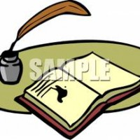 Quill clipart book #9