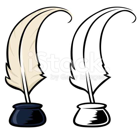 Quill clipart ink bottle #7