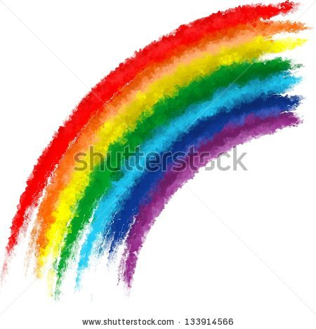 Color clipart paintbrush Paint rainbow · art stock