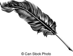 Quill clipart vintage #1