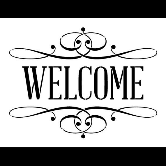 Quoth clipart 6 word Welcome Stencil Serif 20+ Best