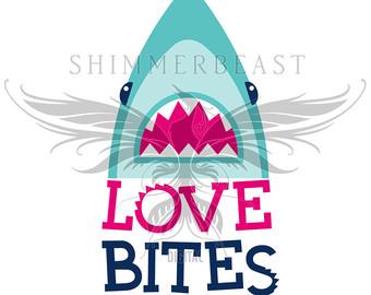 Shark clipart valentine #2