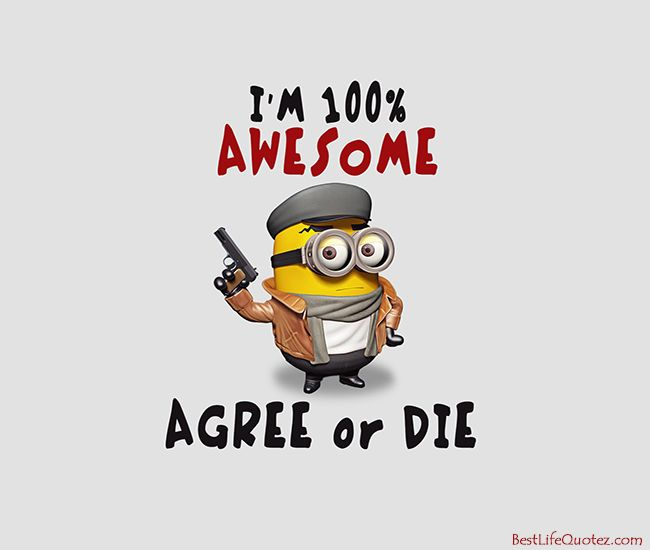 Quoth clipart awesome Minions on Quotes I Gun