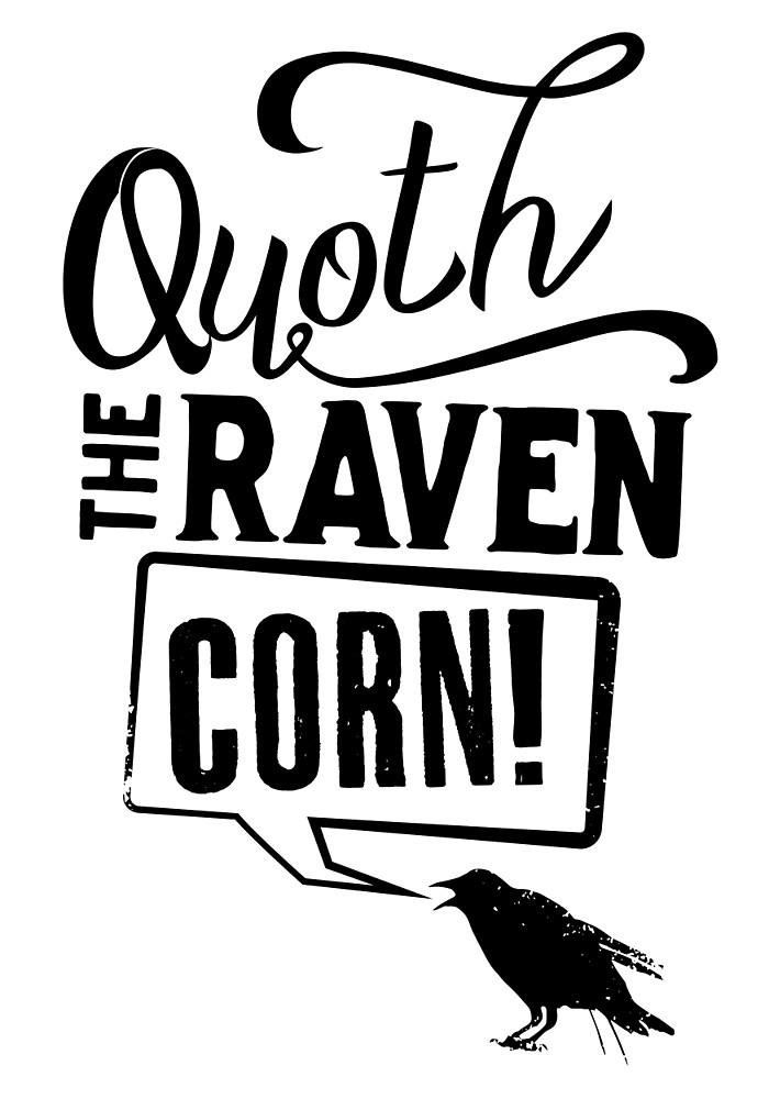 Quoth clipart black and white Corn! Corn!
