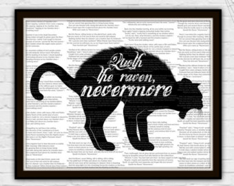 Quoth clipart black and white Wall Art The Nevermore raven