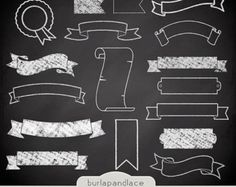 Quoth clipart chalk This banner Art Design Pizarras