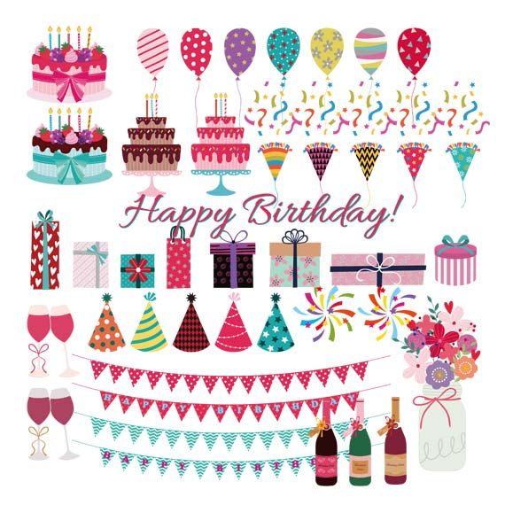 Quoth clipart commercial Birthday wine on This Birthday