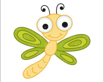 Yellow clipart dragonfly Images Pinterest free art CARTOON