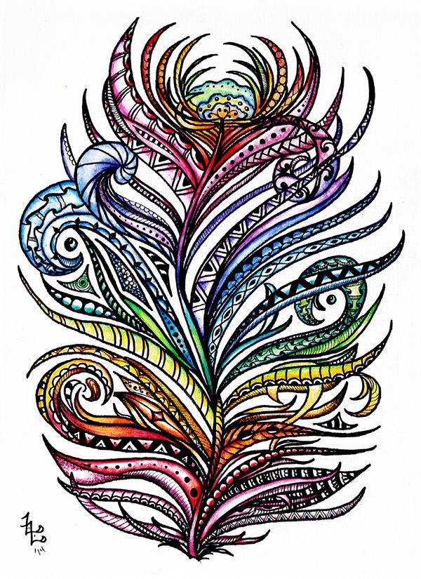 Quoth clipart doodle Pinterest Zentangle Buscar Doodles Feathers