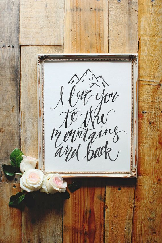 Quoth clipart i love you I Mountains Back on Sign