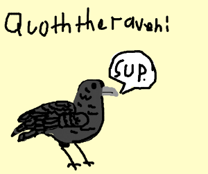 Quoth clipart laugh The