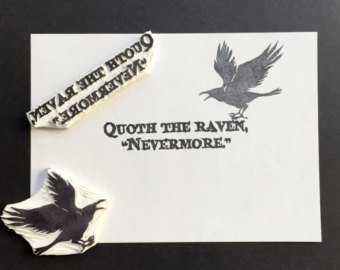 Quoth clipart text box Hand rubber Quoth Etsy the