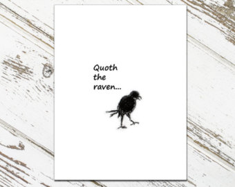 Quoth clipart text box Raven Cards Note Quoth the